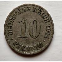 Германия 10 пфеннигов, 1914 A - Берлин 2-1-41