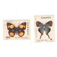 Ангола. Бабочки. 2 марки. Чистые