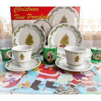 Набор новогодней посуды (6 наименований)+2 плейсмата . Siaki Нидерланды