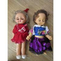 Кукла СССР в красном платье