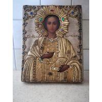 Икона Великомученик Пантелеимон. Афон. Шитье. Шедевр!!!