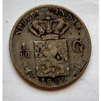 Голландская Ост-Индия 1/10 гульдена, 1884 1-7-29