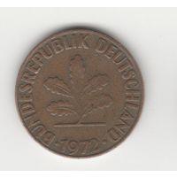 2 пфеннига Германия (ФРГ) 1972 F Лот 1728