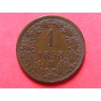 1 крейцер 1858 года М МД Милан