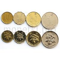 Гонконг 4 монеты 1997-2015 годов.