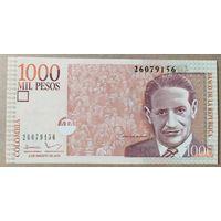 1000 песо 2016 года - Колумбия - UNC