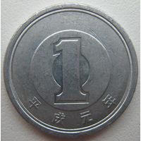 Япония 1 иена 1989 г.