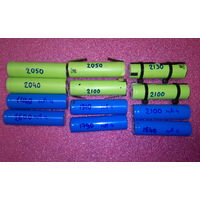 Аккумуляторы 18650, б/у, проверены на токе 1А
