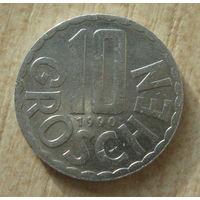 Австрия 10 грошей 1990 год