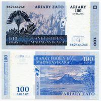 Мадагаскар. 100 ариари (образца 2004 года, P86b, UNC) [#6246426, радар]