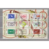 Спорт История Олимпийских игр люди Малави 2012 г 9 марок  лот 51