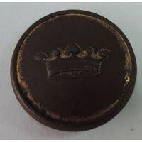 Пуговица с короной, Бухъ. До 1917г. Диаметр  2.5см.