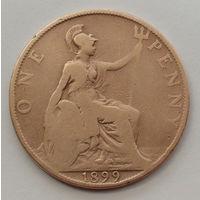 Великобритания 1 пенни. 1899