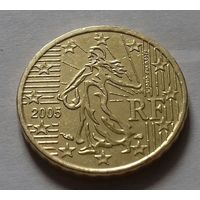 10 евроцентов, Франция 2005 г., AU