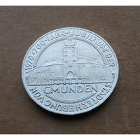 Австрия, 100 шиллингов 1978 г., серебро, 700 лет г.Гмунден