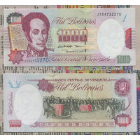 Распродажа коллекции. Венесуэла. 1 000 боливаров 1998 года (P-76c - 1994-1998 Issue)