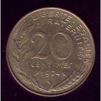 20 сантимов 1974 год Франция