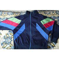 Мастерка от спортивного костюма темно-синяя с полосочками, р. 50-52