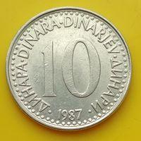 10 динаров 1987 ЮГОСЛАВИЯ
