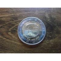 Кипр 2 евро 2009   10 лет Европейскому экономическому и валютному союзу