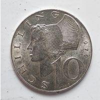 Австрия 10 шиллингов, 1970 Ag 5-4-11