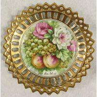 Тарелка (блюдце) Сочные Фрукты (Персиковый Сад), КарлсБат