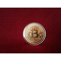Сувенирная монета Биткойн.Бронза.
