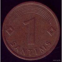 1 сантим 1992 год Латвия