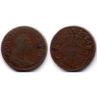 Грош 1754, Август III, Губин. Цифра 3 на Рв.