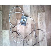 Патрон для лампы освещения духовки Эл.-плиты Гефест с проводами подключения-есть и др.запчасти-всё рабочее