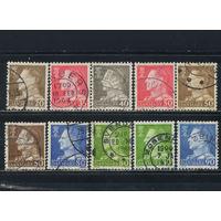 Дания 1961-7 Фредерик IX Стандарт #390,393,412,429,457,459,460