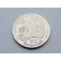 """Гибралтар. 3 фунта 2013 год  UC#101  """"300 лет Утрехтскому мирному договору"""""""
