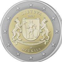2 евро 2021 Литва Дзукия UNC из ролла