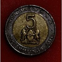 104-25 Кения, 5 шиллингов 2005 г.