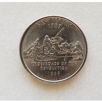 25 центов США 1999 г. штат Нью-Джерси P