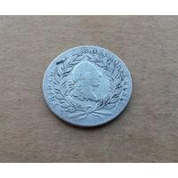 Бранденбург-Байройт, 20 крейцеров 1766 г., серебро, маркграф Фридрих Кристиан (1763-1769)