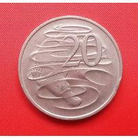 72-27 Австралия, 20 центов 1977 г.