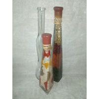 Три фигурные бутылки для декора одним лотом