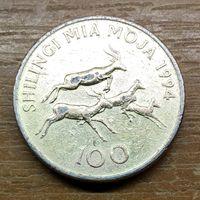 100 шиллингов 1994 Танзания