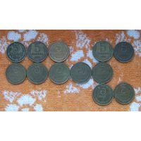 СССР 5 копеек 1980, 1981, 1982, 1984, 1985, 1986, 1987, 1988, 1989, 1990, 1991 г. Л и М.  12 монет! Новогодняя распродажа! Подписывайтесь на мои лоты!