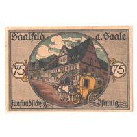 Германия Нотгельд 75 пфеннигов 1921 года. Состояние aUNC!