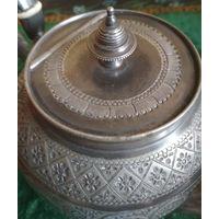Старинный чайник заварник Англия металл интерьерный