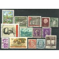 Марки разных стран - 14 марок - гашёные (Лот 4В). Старт с 1 копейки! Без минималки!