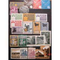 Редкость! большой лот чистых непочтовых марок Германии начала ХХ века, редкий материал. ОРИГИНАЛ