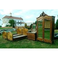 Спальня комплект 4 ед. Дворцовая мебель Рококо, Франция, Первая половина ХХ века.