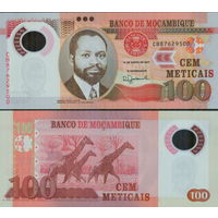 Мозамбик 100 метикал  2017 год  UNC  (ПОЛИМЕР)