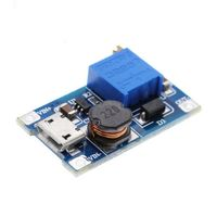 Преобразователь повышающий, блок питания 2-28В 2А с micro USB
