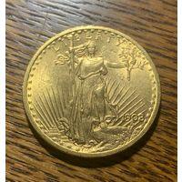 Монета США 20 долларов