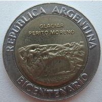 Аргентина 1 песо 2010 г. 200 лет Аргентине. Ледник Перито-Морено (d)