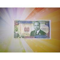 Кения 10 шиллингов 1990г